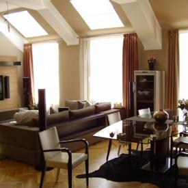 Obývací pokoj v Praze na Národní třídě